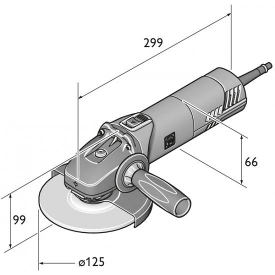 FEIN ΓΩΝΙΑΚΟΣ ΤΡΟΧΟΣ  WSG 11-125 Ø125mm