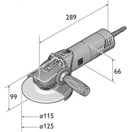 FEIN ΓΩΝΙΑΚΟΣ ΤΡΟΧΟΣ WSG 8-125 Ø125mm